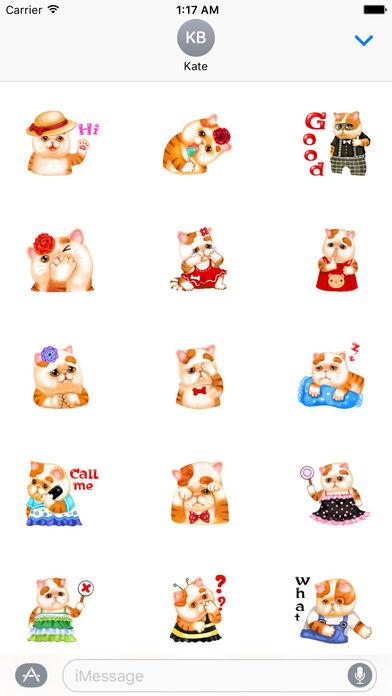 So Cute Cat Cartoon Sticker screenshot 1