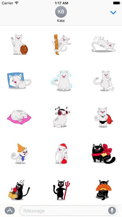 Many Cute Cats Sticker Pack screenshot 1