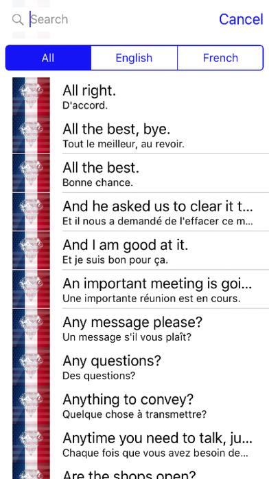 French Phrases Offline screenshot 1