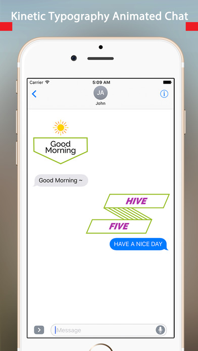 TypoChat -Minimal Animated Typography Chat Message screenshot 3