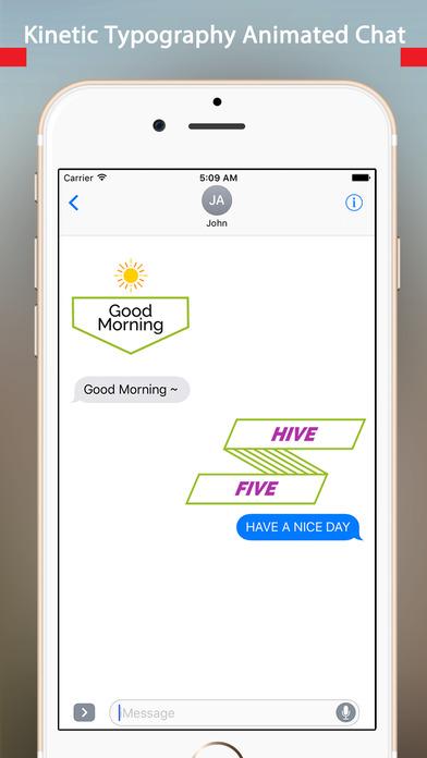 TypoChat -Minimal Animated Typography Chat Message screenshot 3