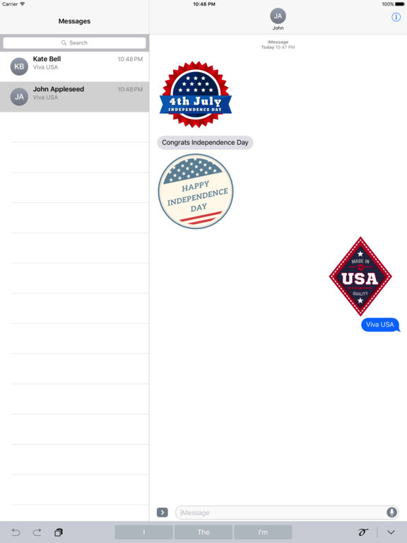 4th of July - 120+ Badge Independence Day Stickers screenshot 7