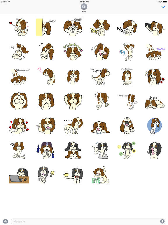 Cavalier King Charles Spaniel Dog Sticker screenshot 4