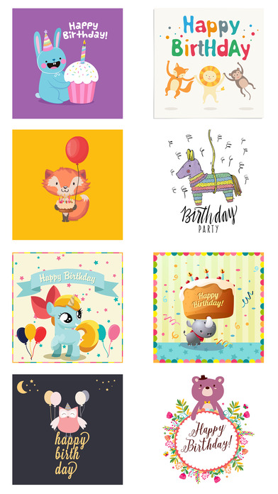 Birthday Card - Best Wishes with Cute Animals screenshot 5