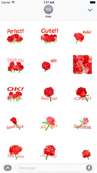 Love and Rose - Rosemoji Sticker screenshot 2