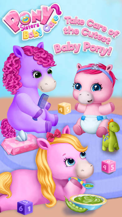 Pony Sisters Baby Horse Care - No Ads screenshot 1