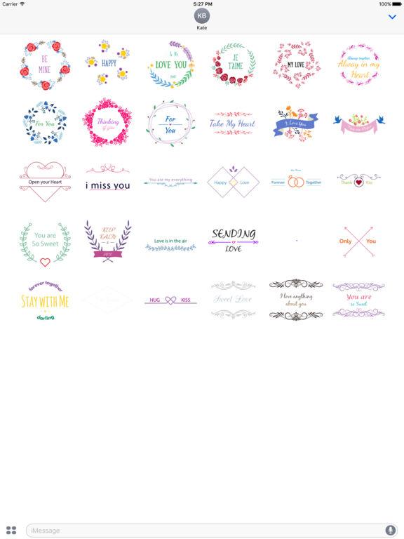 Love Typo - Animated Minimal Typography Stickers screenshot 6
