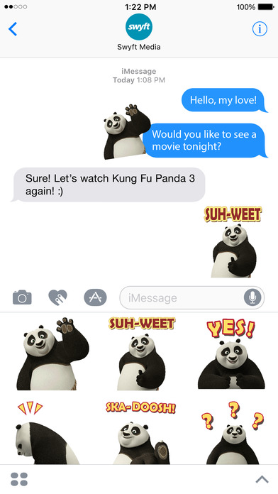 Kung Fu Panda Stickers screenshot 4