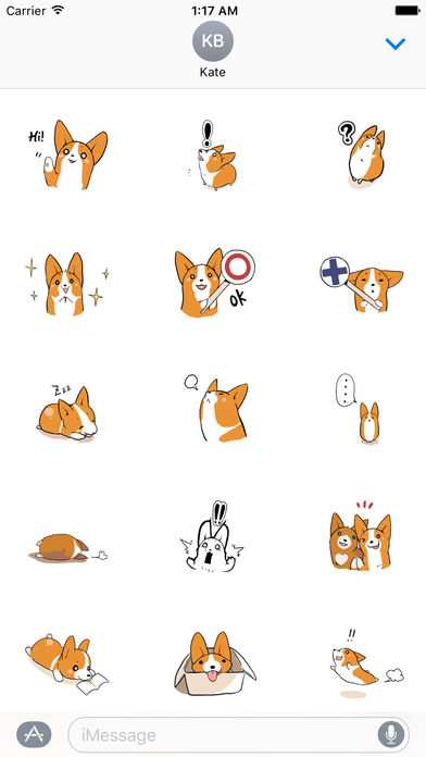 Stanley a Steadfast Corgi Dog Sticker screenshot 2