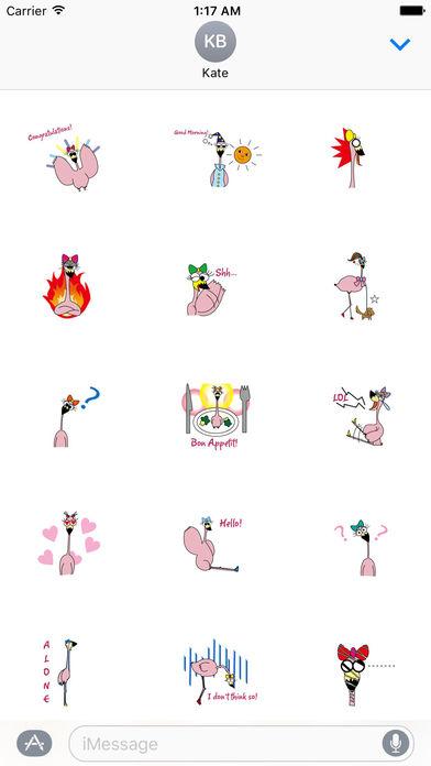 Young Lazy Flamingo Sticker screenshot 1