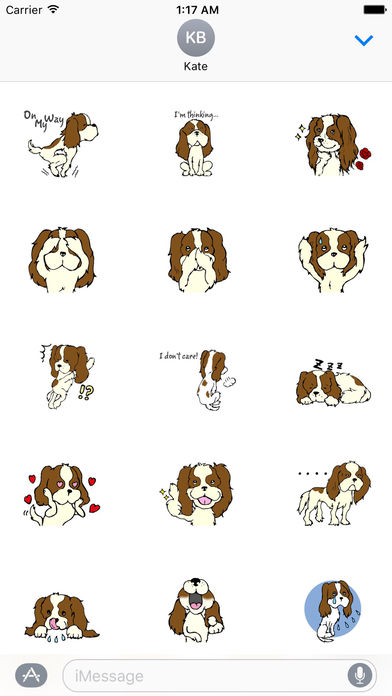 Cavalier King Charles Spaniel Dog Sticker screenshot 2