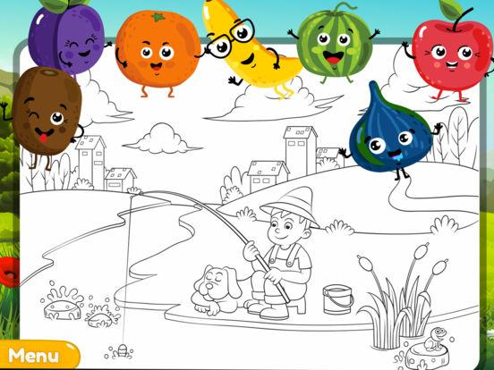 My Colouring Book - Fun Fruit Sketch Pad Game screenshot 4