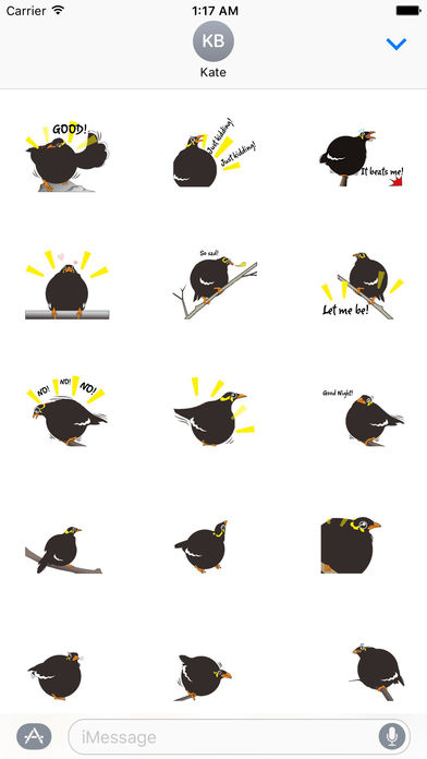 Grackle Bird Sticker screenshot 2