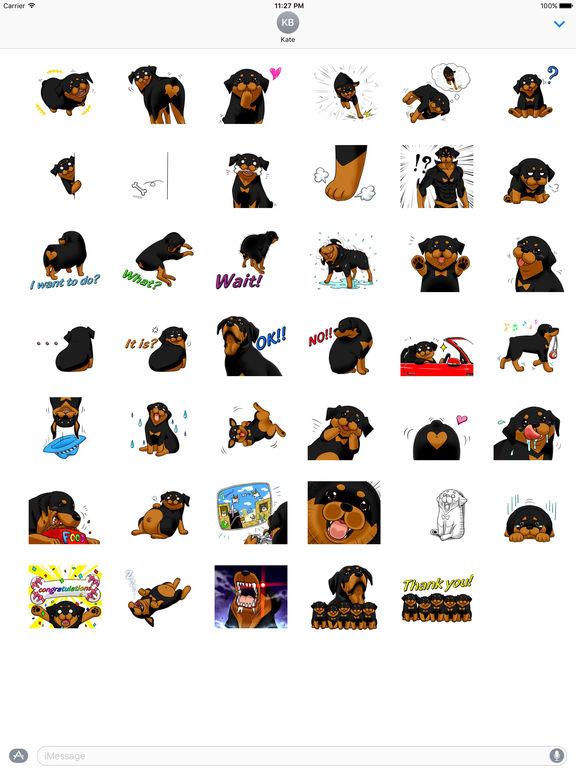 Rottmoji - Rottweiler Dog Emoji Sticker screenshot 4