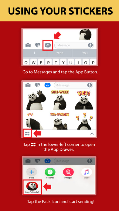 Kung Fu Panda Stickers screenshot 1