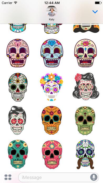 Dias de los Muertos - Colorful Sugar Skulls screenshot 2