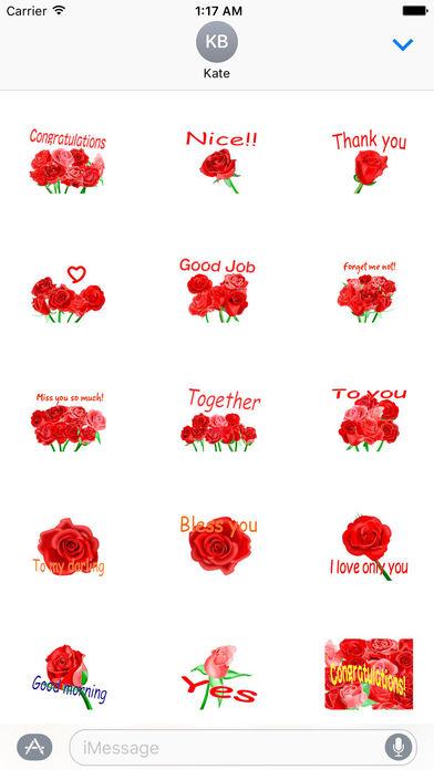 Love and Rose - Rosemoji Sticker screenshot 1