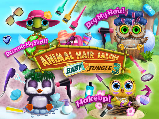 Baby Animal Hair Salon 3 - No Ads screenshot 6