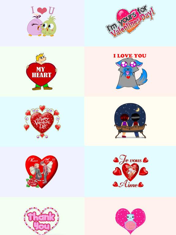 Valentine's Day 2017 Animated Sticker for iMessage screenshot 6
