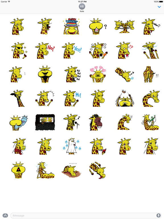 Funny Raffe Giraffe Sticker screenshot 4