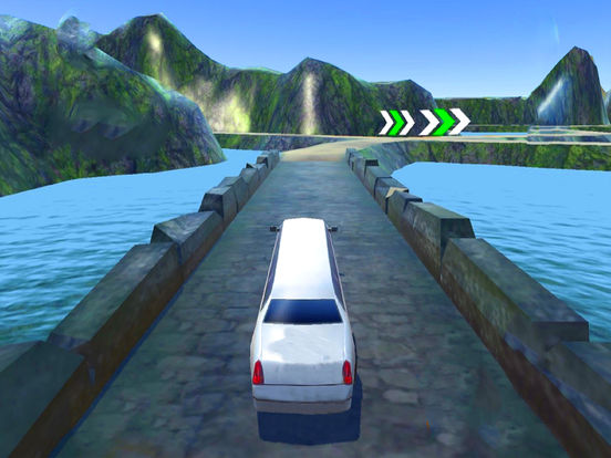 Off-Road Limo Hill Climber : 3D Car Par-king 2016 screenshot 6