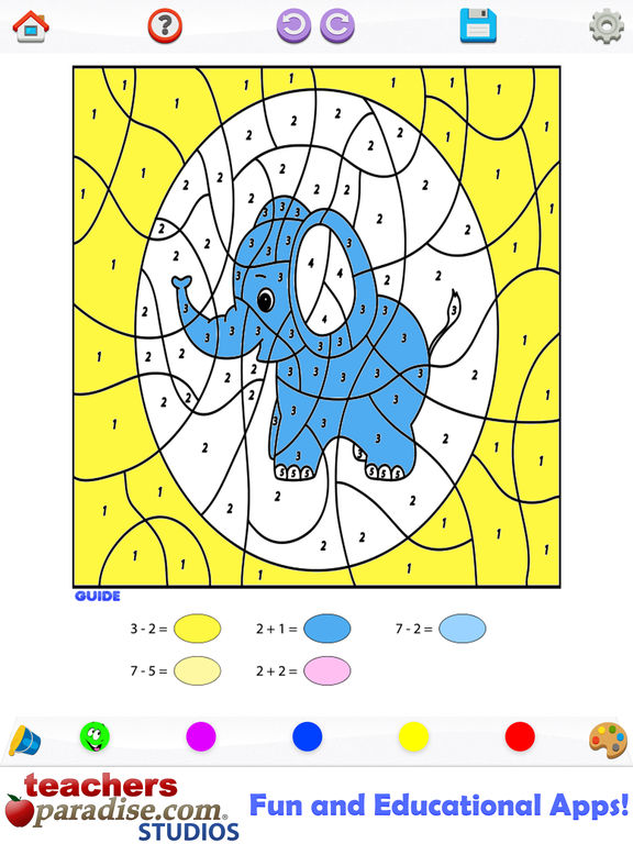 Kids Math Coloring Book - Paint by Numbers | Apps | 148Apps