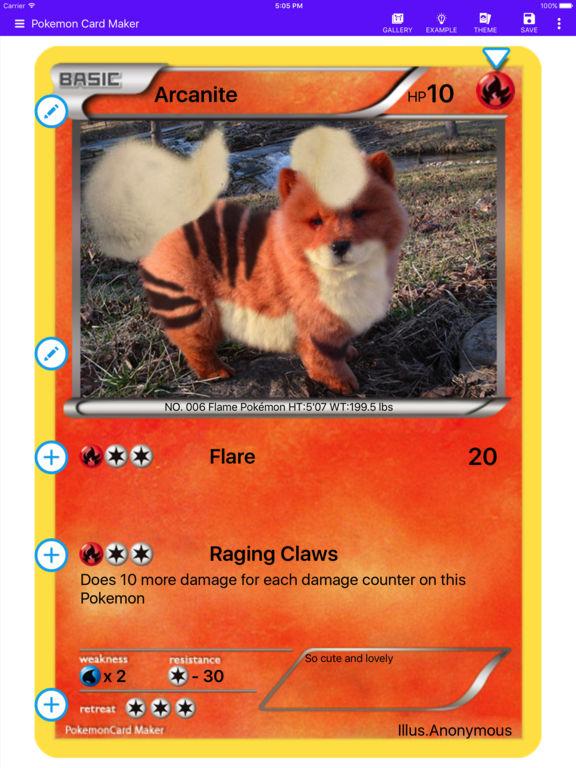 Card Maker Creator for Pokemon screenshot 5