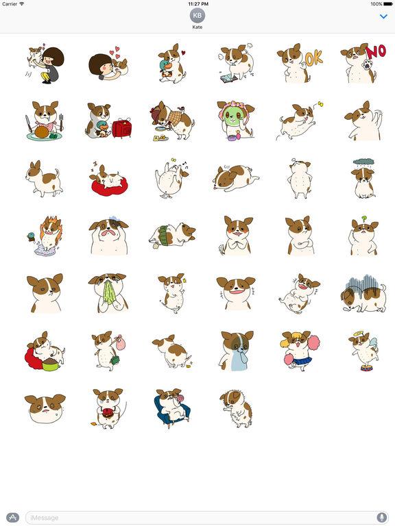 Very Cute Fat Chihuahua Dog Stickers Pack screenshot 4