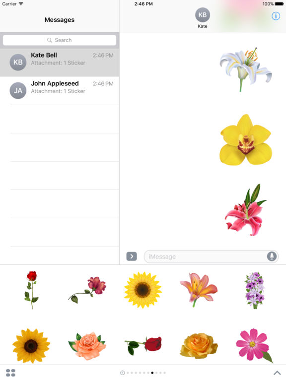 Flowers Pack HD Stickers for iMessage screenshot 10