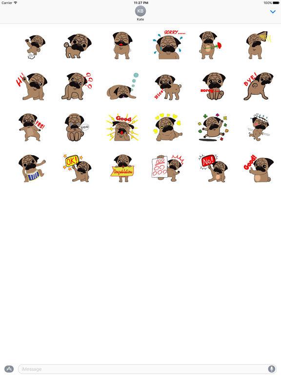 Animated Pug Puppy Sticker pack screenshot 3