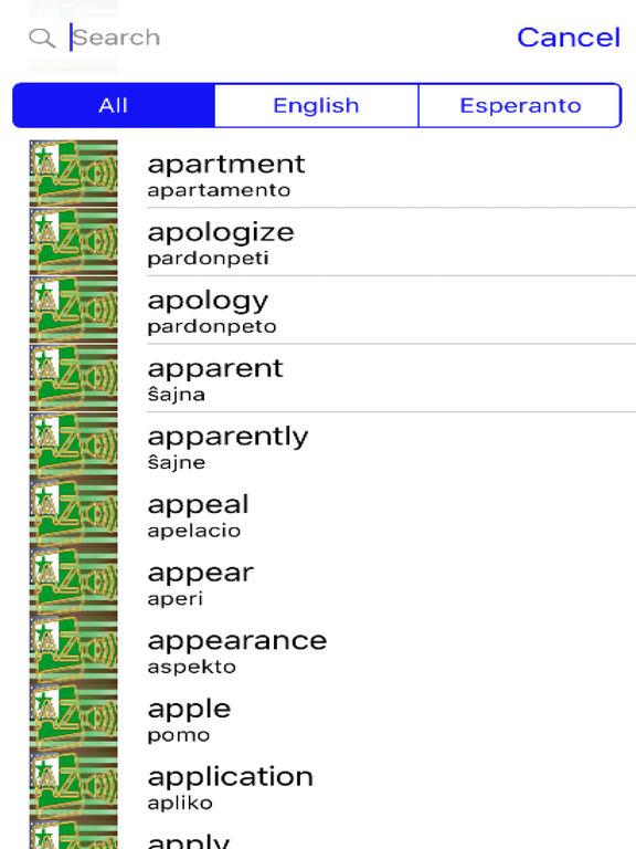 Esperanto Dictionary GoldEdition screenshot 9