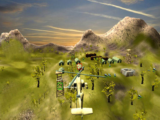 War-ship Sea Helicopter Strike : 3D Battle-Field screenshot 6