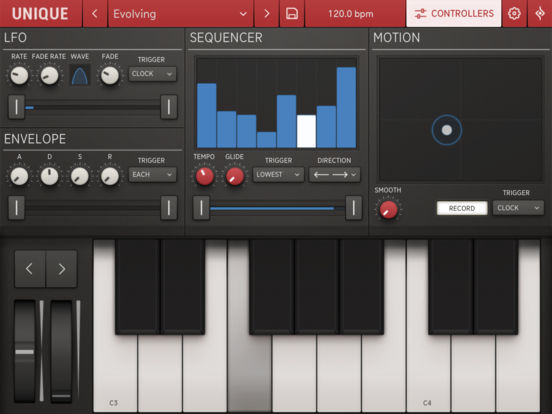 Unique for iPad - Analog Synth screenshot 2