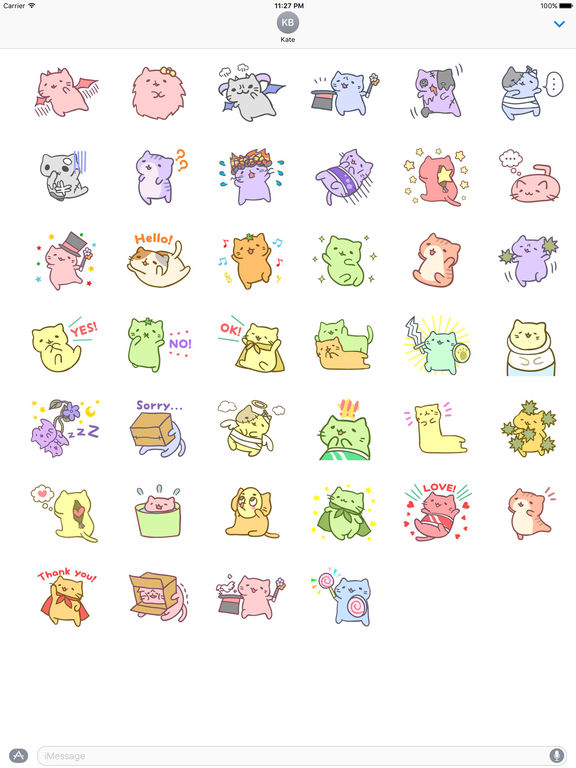 Nancy Pink Cat Stickers screenshot 4