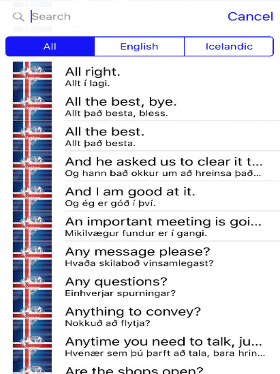 Icelandic Phrases Diamond 4K Edition screenshot 4