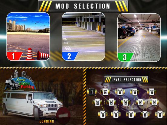 Snow Limo Parking : Crazy Driving Sim-ulator 2017 screenshot 5