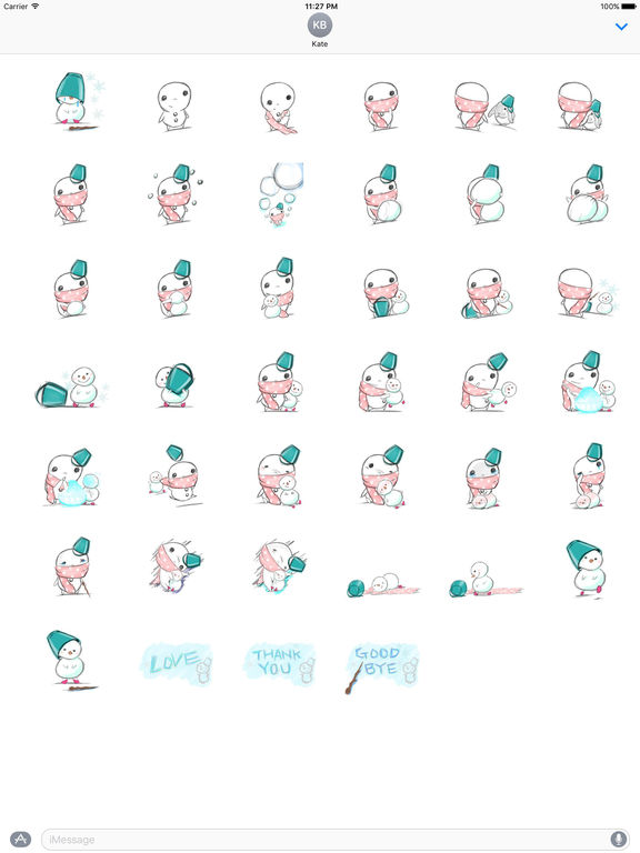 Xmas Of Lonely Snowman Stickers screenshot 4