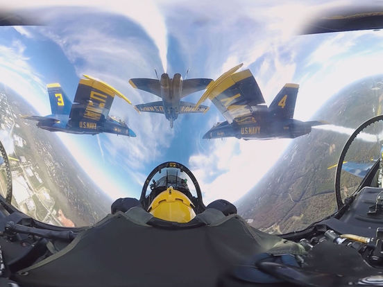 VR Blue Angels with Google Cardboard Edition 360 screenshot 6