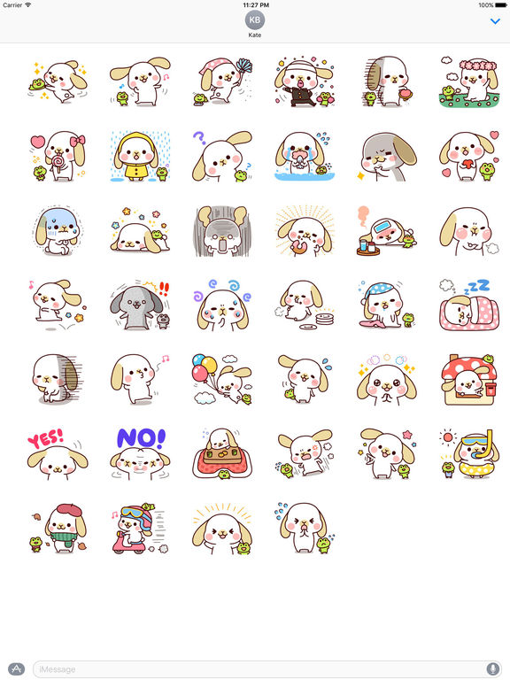 Friendship Of Frog And Rabbit Stickers screenshot 4