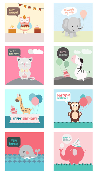 Birthday Card - Best Wishes with Cute Animals screenshot 4