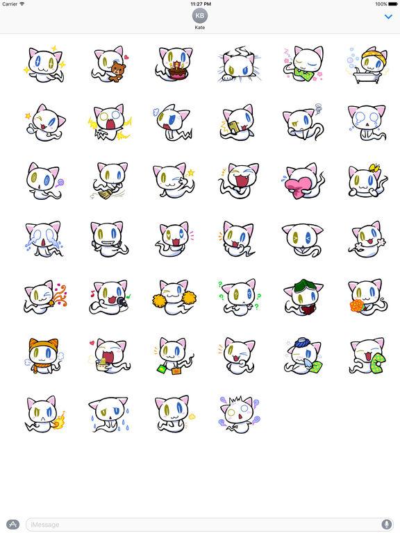 Cute Ghost Cat Stickers Pack screenshot 4