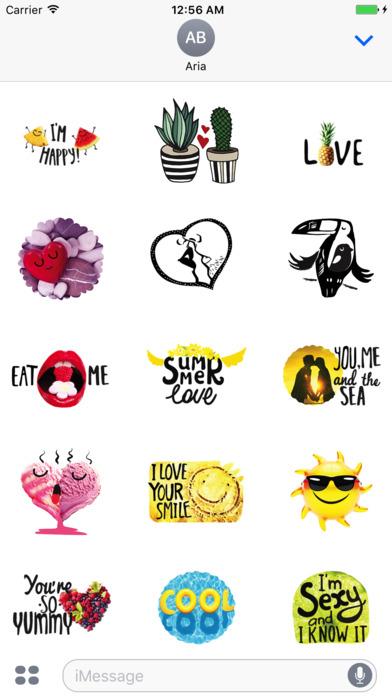 Summer Love Stickers Pack screenshot 1