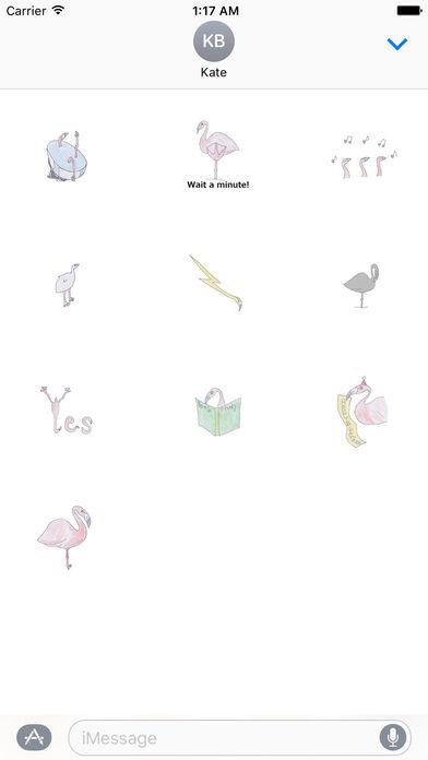 Pretty Flamingo Stickers screenshot 3