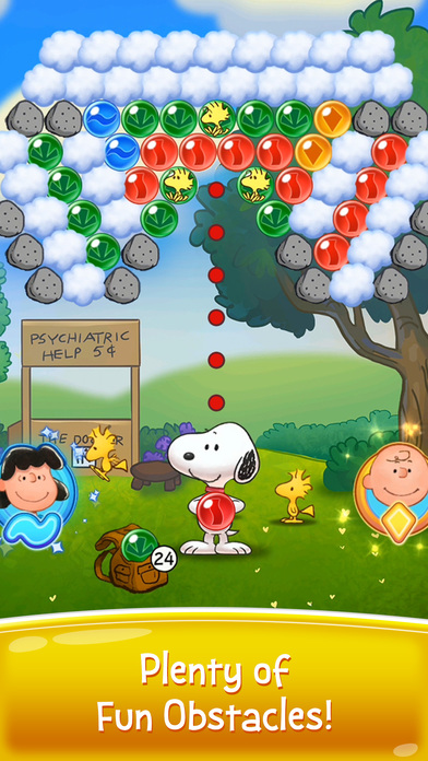Bubble Shooter - Snoopy POP! screenshot 2