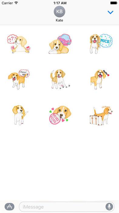 Travel of Beagle Dog Sticker screenshot 3