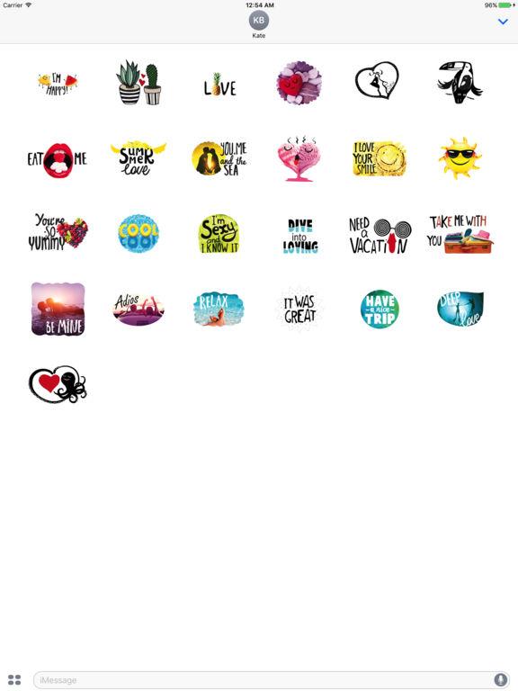 Summer Love Stickers Pack screenshot 3