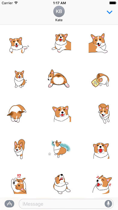 Pembroke Welsh Corgi Dog Emoji Sticker screenshot 2