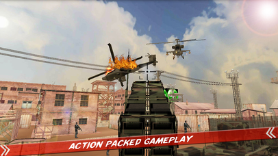 Helicopter Defence Strike - 3d Anti Aircraft Games screenshot 1