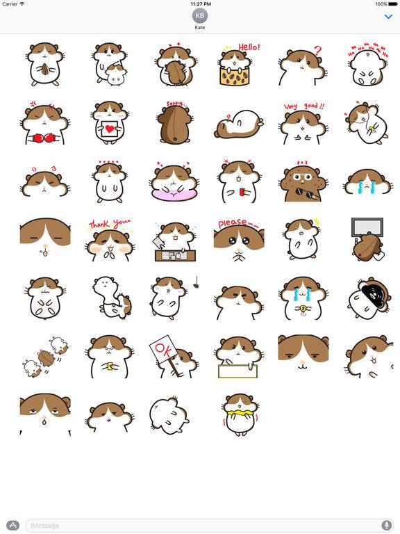 Cute Hamster - Hamsmoji Sticker screenshot 4