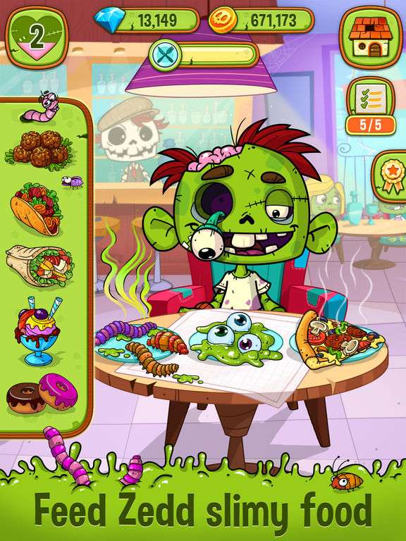Zedd the Zombie - Grow Your Wacky Friend screenshot 6